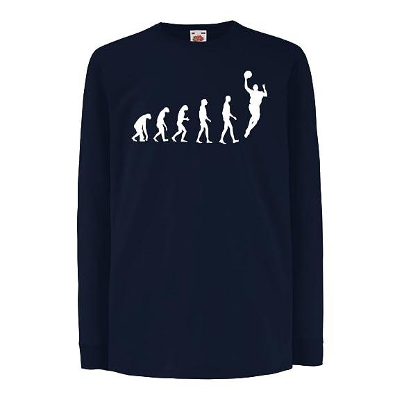 Camisetas de Manga Larga para Niño Evolución de Baloncesto - Canasta de la Calle, me Encanta Este Juego, Gran Fan de Regalo: Amazon.es: Ropa y accesorios