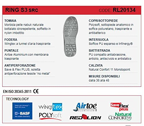 Safety Safety Safety U Power Schuhe rot Lion Ring S3 SRC 6f0aa3