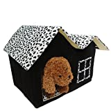 Kocome Luxury Pet House Spot Double Top Puppy Dog Cat Warm Kennel Sleep Bed Room Mat