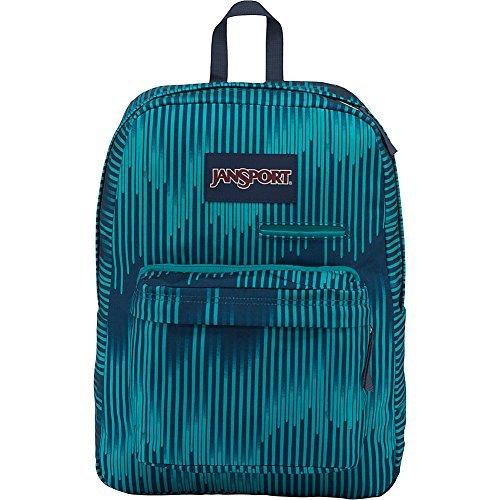 JanSport Digibreak Laptop Backpack- Sale Colors (Algiers Blue Running Stripe)