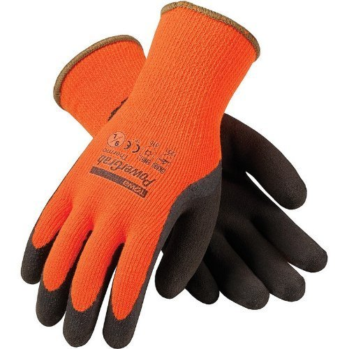 PIP WA1403A Tek Seamless Knit Latex Grip Work Glove Large, Orange & (Tek Grip)