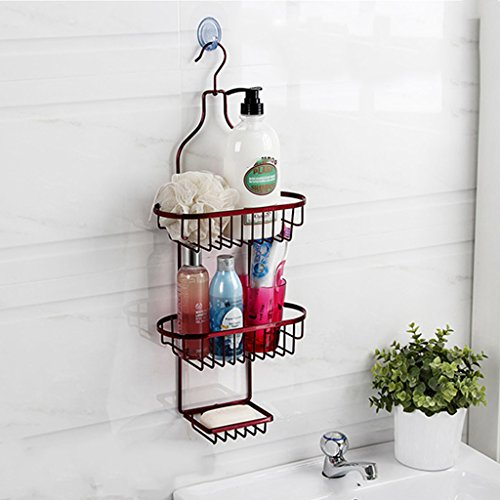Stainless Steel Refrigerator Finishing Frame - Bathroom Accessories Wall-Mounted Multifunctional Hanging Rack Portable Red Iron Storage Organizer Shelf Refrigerator Multi - Layer Finishing Frame
