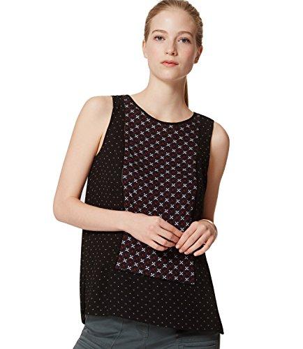 ann-taylor-loft-womens-poinsettia-floral-paneled-mixed-media-shell-tank-top-small-black-multi