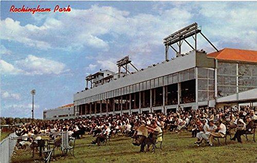 Grandstand and Club House at Rockingham Park Salem, New Hampshire, NH, USA Old Vintage Horse Racing Postcard Post - New Rockingham Hampshire Salem Park