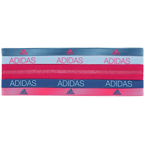 adidas Womens Creator Hairband (5-Pack), Ratio Print/Shock Pink/Core Pink/Ice Blue, One Size