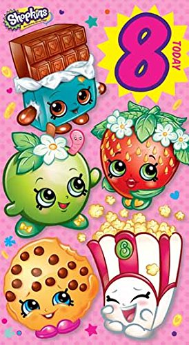 Amazon Shopkins Age 8 Today 8th Birthday Card Toys Games