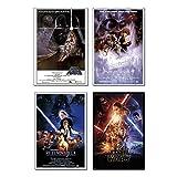 "Star Wars: Episode IV, V, VI & VII - 4 Piece Movie Poster / Print Set (Regular Style Posters 1) (Size: 24"" x 36"")"
