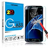 [2 Pack] Galaxy S7 Tempered Glass Screen Protector, HengTech (TM) HD Clear Oleophobic Coating Screen Film Guard for Samsung Galaxy S7 S VII G930 GS7 All Carriers with 9H Hardness