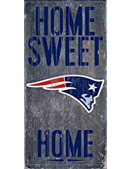 New England Patriots Official NFL 14.5 inch x 9.5 inch Wood S...