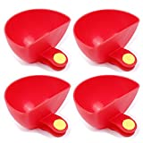 TXIN Set of 4 Dip Clips, Bowl Holder Plate Grab Clip Tomato Sauce Salt Vinegar Sugar Flavor Spices Dip Bowl Party Ware (Red)
