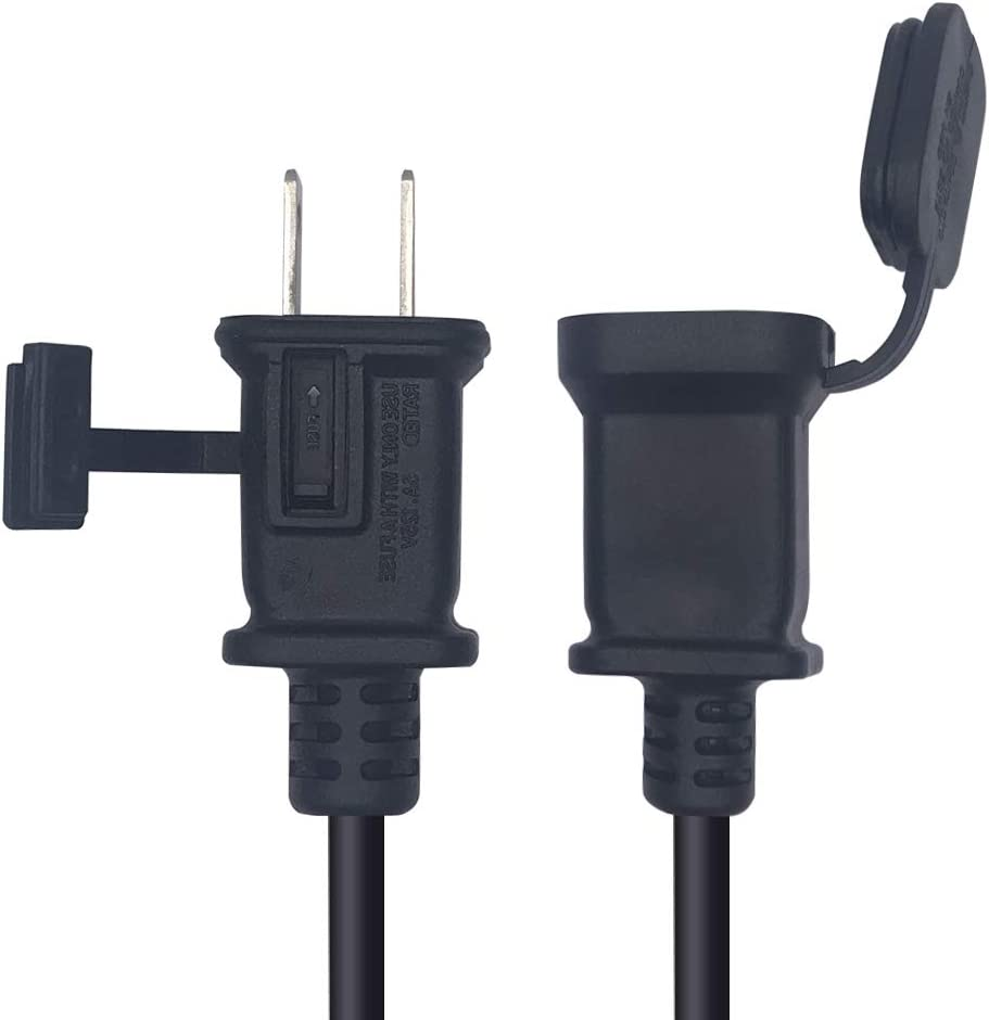 US Power Extension Cable Cord US AC 2-Prong Male//Female Power cable10A//125V,USA Outlet Saver Power Extension Cord Cable 2-Prong 2 Outlets for NEMA 5-15P to NEMA 5-15R Tekit 4.92ft//1.5m