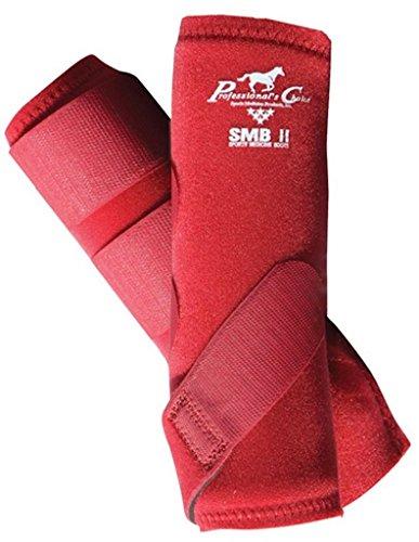 Professionals Choice Equine Smbii Leg Boot, Pair (Large, Crimson Red) ()