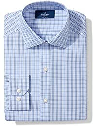 Men's Fitted Spread-Collar Pattern Non-Iron Dress Shirt