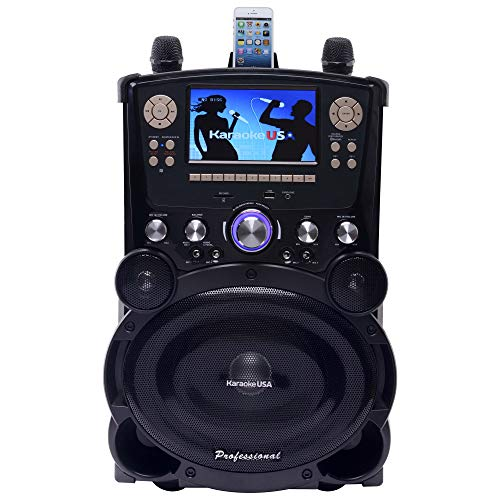 Karaoke USA GP978 Professional DVD/CDG/MP3G Karaoke Player with 7