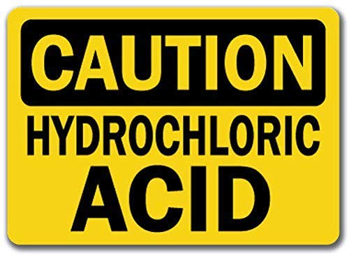 TAN550 Hydrochloric Acid - Safety Sign, Metal Wanring Signs Private Property,Danger Safety Sign Plaque,Gate Sign,8