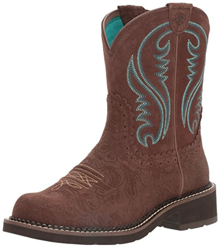 Ariat Women's Fatbaby Heritage Western Cowboy Boot, Tooled Brown, 8.5 B -