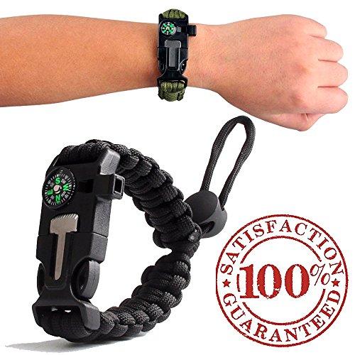 550 cord bracelet fire starter - 2