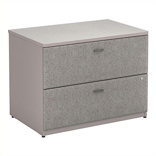 Bush Business Furniture Series A 36W Lateral File Cabinet in Pewter and White Spectrum by Bush Business Furniture