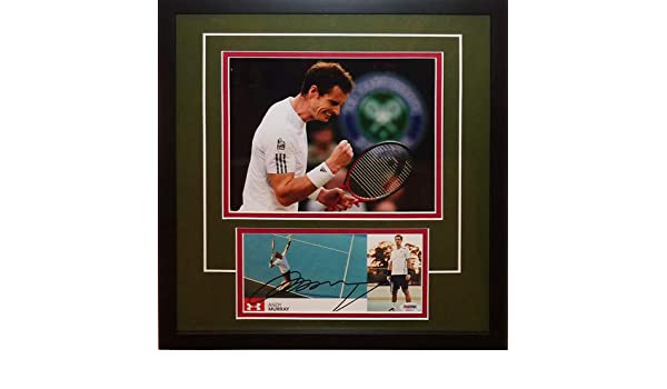 Andy Murray Autographed Signed Auto Tennis Signature Series Frame JSA - Certified Authentic at Amazons Sports Collectibles Store