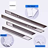 AUNAZZ/Car Door Scuff Step Plate Sill Cover Panel Guard Sills Protector Trim Stainless Steel Fit for Volkswagen Golf 7 MK7 5door 2013-2017 Years 4pcs/set Attached installation tools