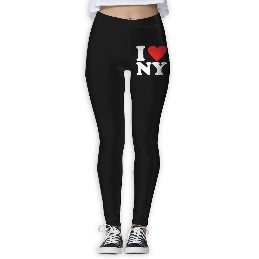 DDCYOGA I Love NY New York Women's Power Flex Yoga Pants Exercise Gym Jogger Leggings For Girls