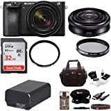 Sony Alpha a6500 Mirrorless Camera with 18-135mm f/3.5-5.6 and SEL20F28 Lens