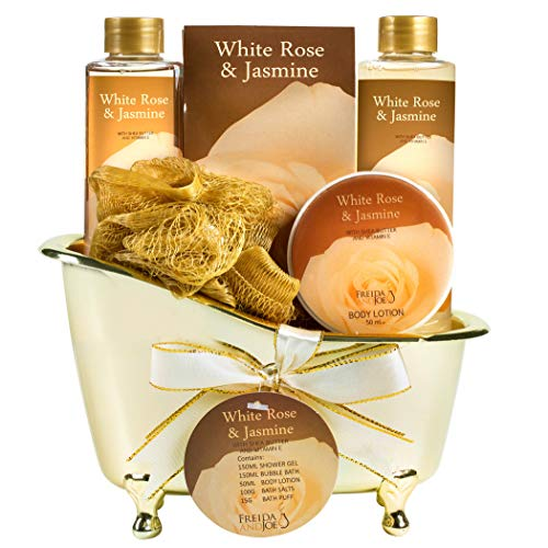 Luxurious White Rose Jasmine Spa Gift Set For Women...