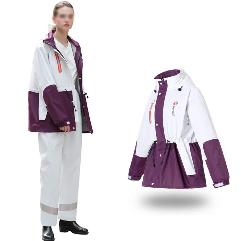 violet Medium YYHSND Imperméable Costume Hommes et Femmes imperméable extérieur imperméable à Capuche Coupe-Vent réutilisable imperméable (Couleur   rouge, Taille   XXXL)