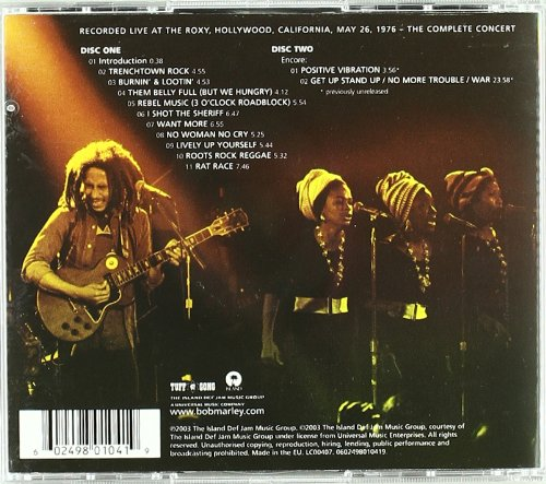 Bob Marley & the Wailers - Live at the Roxy - Amazon.com Music