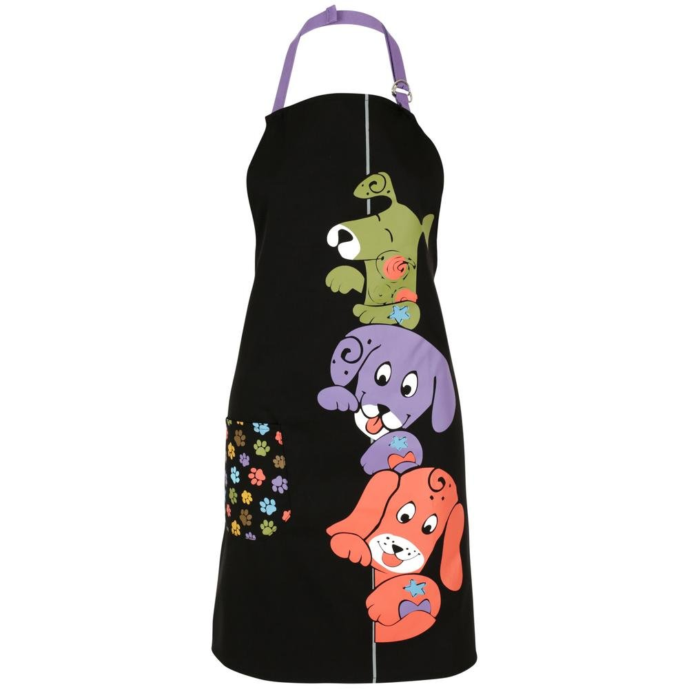 Colorful Peeping Pets Animal Lovers Kitchen Apron (Dog)
