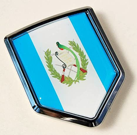 Guatemala Flag Car Auto Chrome Emblem 3d Decal Sticker