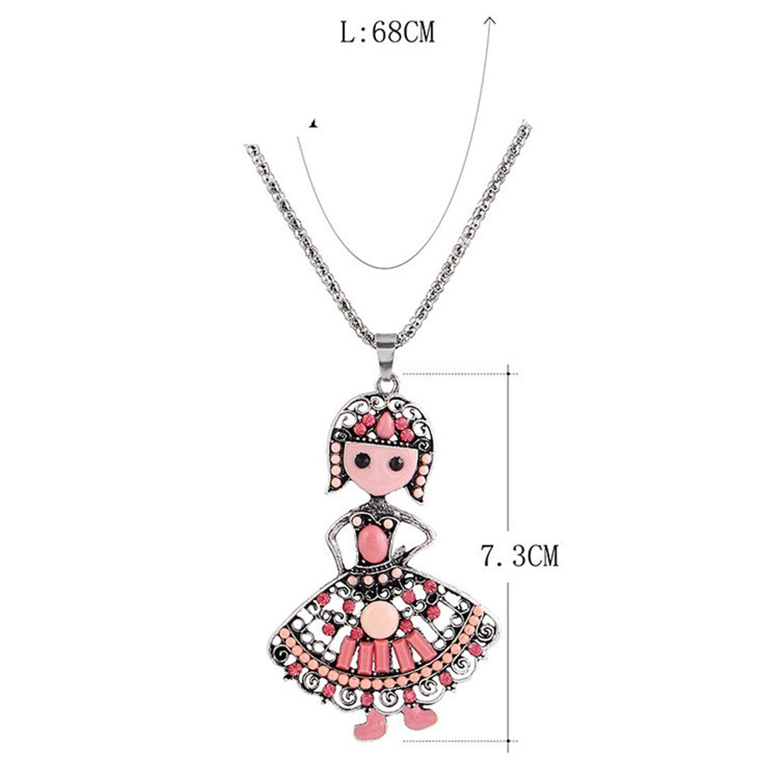 Bohemian Hat Girl Princess Necklace Vintage Ethnic Jewelry Birthday Gift for Girlfriend