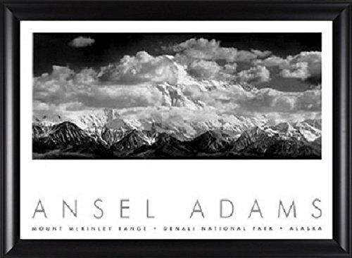 Mount Mckinley, Denali National Park, Range Clouds, Ansel Adams, Framed Art - Denali Park National Clouds Range