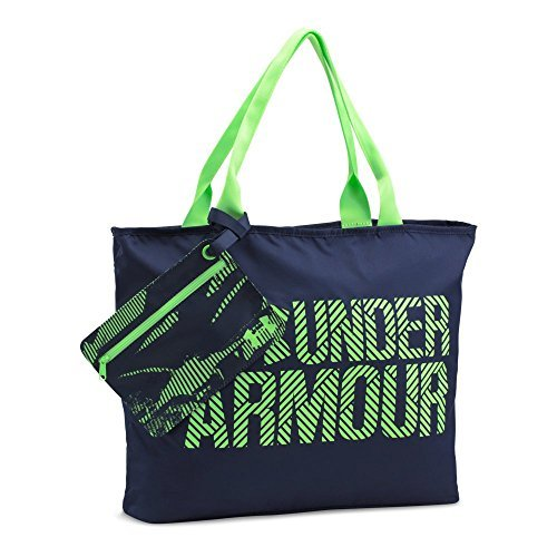 Under Armour Women's Big Wordmark Tote 2.0,Midnight Navy (410)/Quirky Lime, One Size [並行輸入品] B07F4C8FQ5
