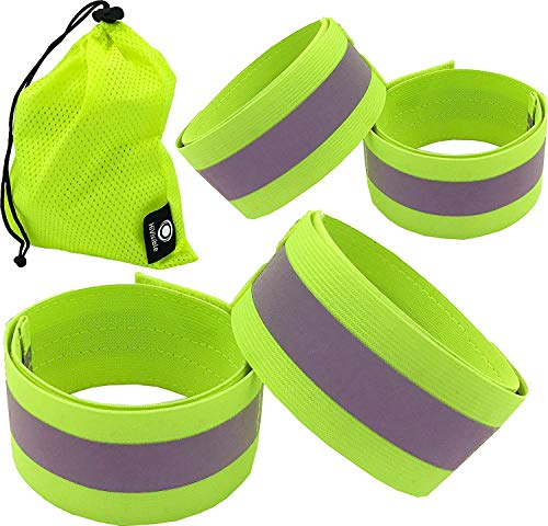 Self-Conscious Bike Bicycle Cycling Band Arm Leg Pant Reflective Strap Belt Safety Reflector Roadway Safety Back To Search Resultssecurity & Protection