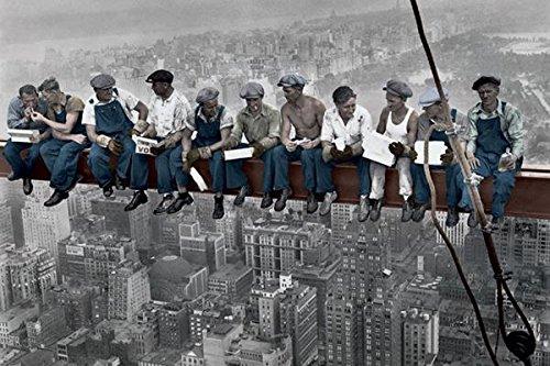Charles C Ebbets Lunch Atop A Skyscraper Crossbeam RCA Building Rockefeller Color Poster (Rockefeller Building New York)