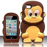 SKS Distribution® Marron Silicone Singe Monkey Etui Coque Housse Pour Apple Ipod Touch 4