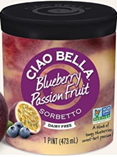 Ciao Bella, Blueberry Passion Fruit Sorbetto, Pint (4 Count)