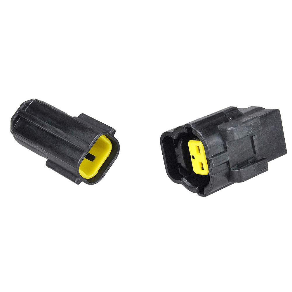 MUYI 5 sets Wire Cable Connector Plug Insert in 2-pins 1.8mm Series Waterproof Electrical kits Car HID with Terminal DJ70216Y-1.8-21/11 (2 Pins)