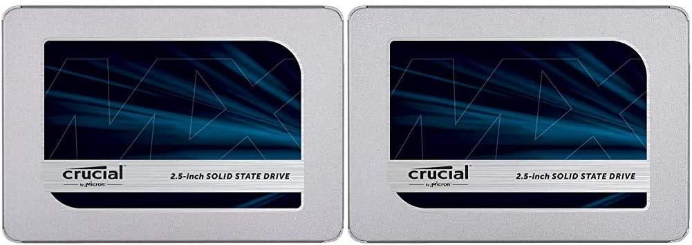 Crucial MX500 1TB 3D NAND SATA 2.5 Inch Internal SSD, up to 560MB/s - CT1000MX500SSD1 & MX500 500GB 3D NAND SATA 2.5 Inch Internal SSD, up to 560MB/s - CT500MX500SSD1