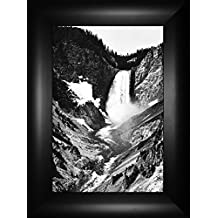 Yellowstone Falls By Ansel Adams 24x18 Glacier Montana Grand Teton National Park Yellowstone Western Wyoming Framed Art Print Wall Décor Picture