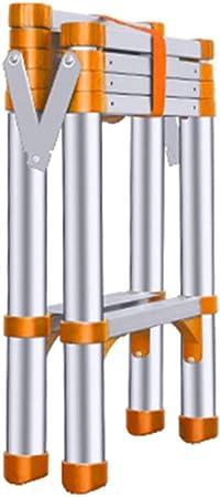 Escaleras de mano Escalera doméstica para adultos mayores con pedal antideslizante, escalera telescópica multifunción de aluminio para balcón de cocina - 5 peldaños (Color : Orange , Size : 5 step) : Amazon.es: Hogar