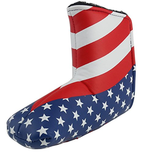Ogrmar Craftsman Golf American Flag Golf Blade Style Putter Head Cover Headcover (American flag)