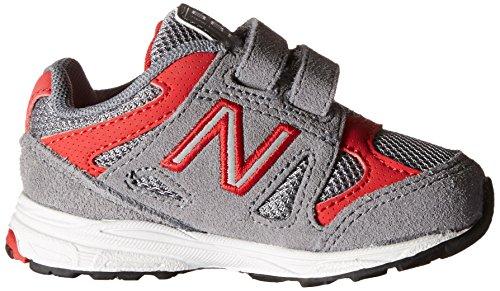 New Balance kv888V1Zapatilla de Running infantil (Infant/Toddler) Gris/Rojo