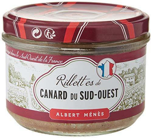 ALBERT MENES AM - Les Salaisons - Rillettes de Canard au Canard Fermier des Landes 180 g - Lot de 2