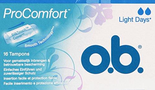 - O.B. Tampons - Pro Comfort Light Days Tampons 16 pcs