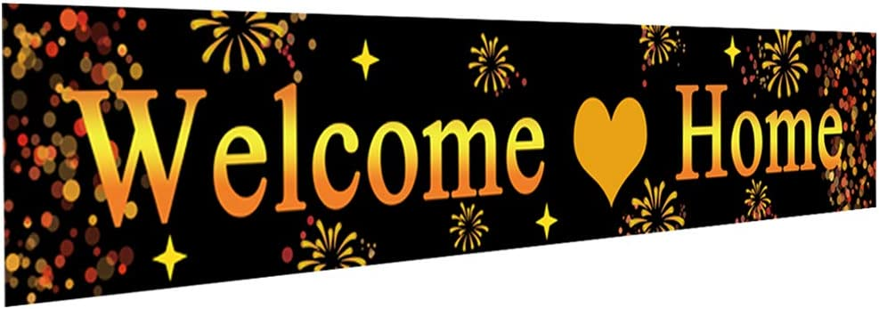 Ushinemi Large Welcome Home Banner, Welcome Back Home Decorations Sign