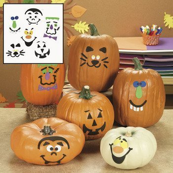 Foam Pumpkin Decorations Craft Kit Makes 12 Pumpkins -