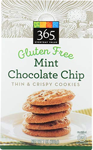 365 Everyday Value, Mint Chocolate Chip, Thin & Crispy Cookies, 7 oz