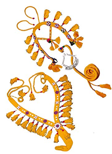Original Handmade Wool Horse Show Set Native Egyptian Arabian Arab Horse Show Halter Bridle + Collar Breast Chest Set + Lead + Nose Chain Nose Band With Beautiful Decoration Accessories And Beads 437 ()